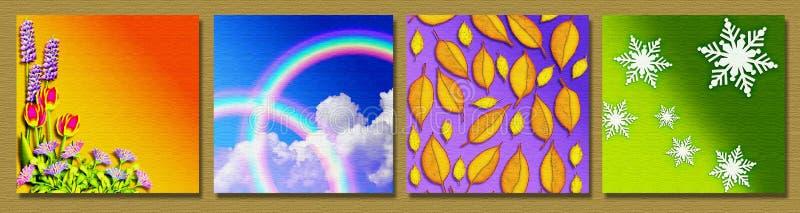 De vier seizoenen vector illustratie