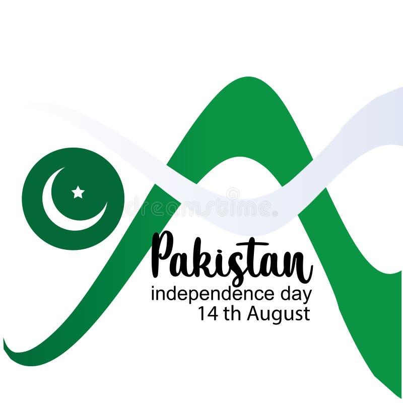De vierende van de de Onafhankelijkheidsdag van Pakistan creatieve vectorillustratie 14 de onafhankelijkheid van Augustus Pakista vector illustratie