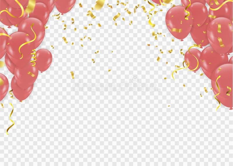 de Viering Carnaval van de verjaardagskaart de verjaardagsgift, ontwerp elemen vector illustratie