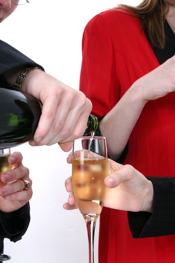 De Viering van Champagne stock afbeelding