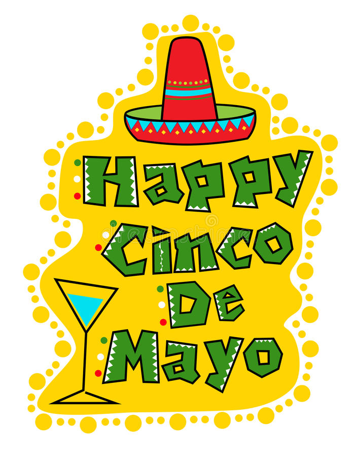 De Viering van Cinco DE Mayo vector illustratie