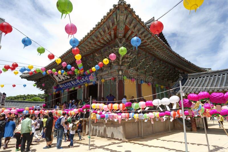 De viering van de Buddhasverjaardag stock foto's
