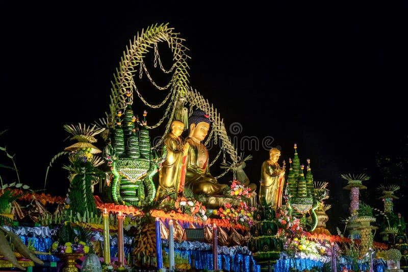 De viering van de dag van Boedha, Vesak - Vesakha - Waisak bij B stock foto