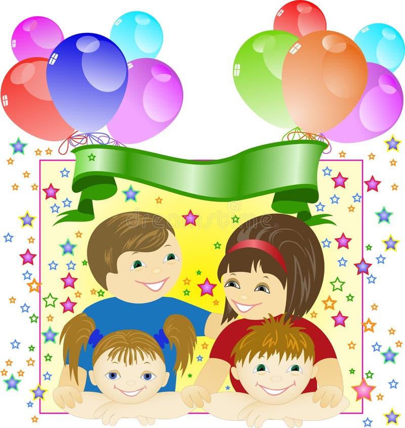 De viering van de familie royalty-vrije illustratie