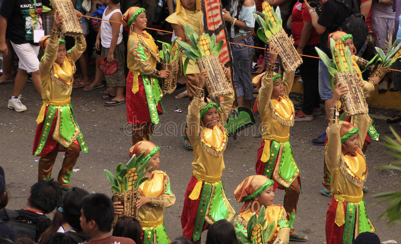 De Viering van de Parade van Cebu van Sinulog royalty-vrije stock afbeelding