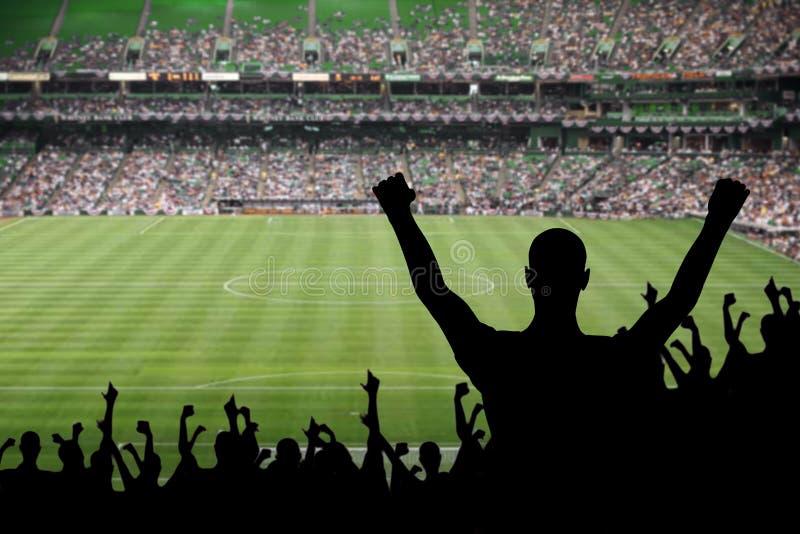 De Viering van de Ventilator van het voetbal royalty-vrije stock afbeelding