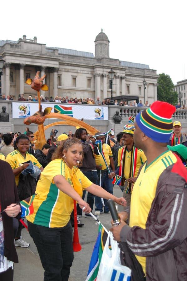 De viering van FIFA 2010, vierkant Trafalgar royalty-vrije stock afbeeldingen