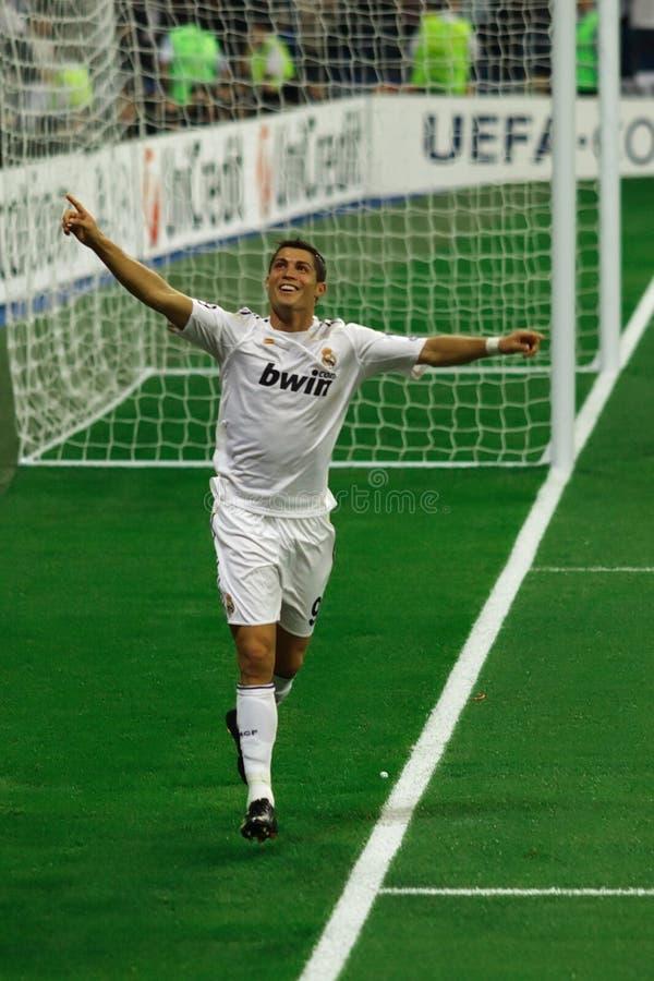 De Viering van het Doel van Ronaldo stock afbeeldingen