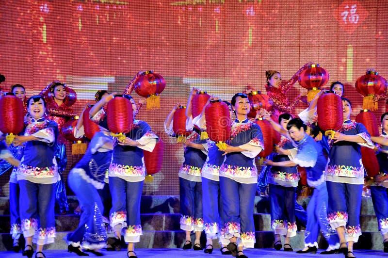 De Viering van het lantaarnfestival stock foto