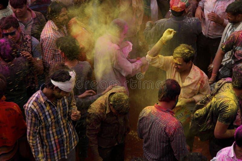 De Viering van Holi stock fotografie