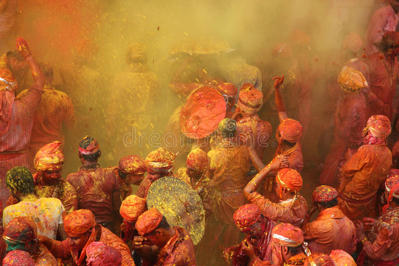 De Viering van Holi stock afbeeldingen