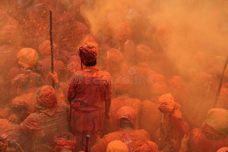 De Viering van Holi royalty-vrije stock foto