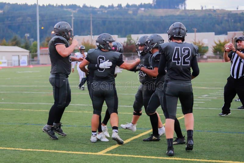 De viering van de middelbare schoolvoetbal royalty-vrije stock foto's