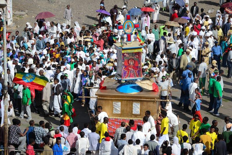 De viering van Timkat in Ethiopië stock afbeeldingen