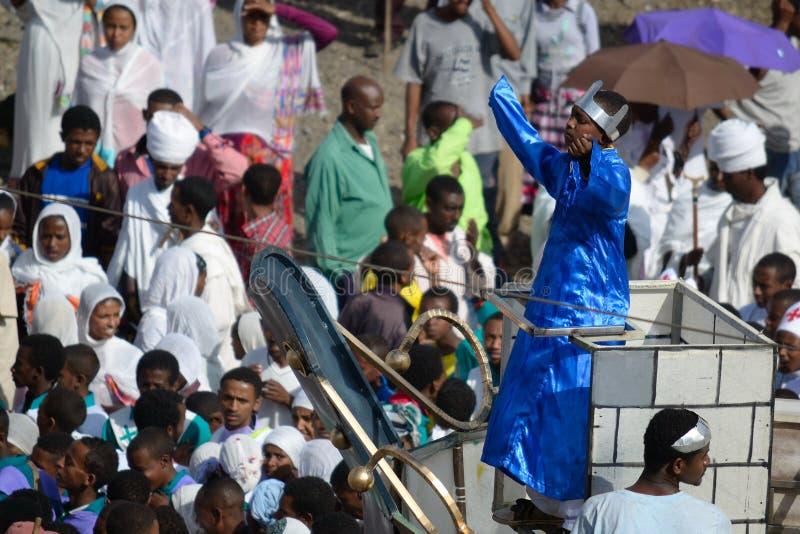 De viering van Timkat in Ethiopië royalty-vrije stock foto