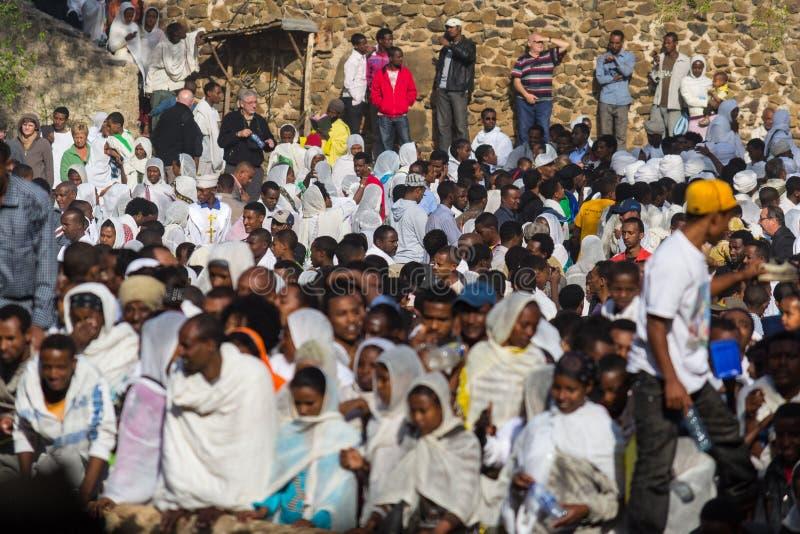 De viering van Timkat in Ethiopië stock afbeelding