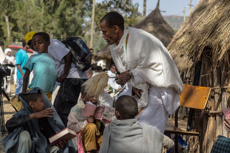 De viering van Timkat in Ethiopië stock fotografie