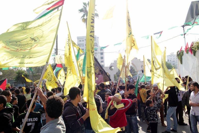 De vieringen van de overwinning in Gaza royalty-vrije stock afbeeldingen