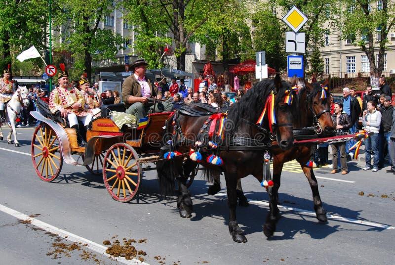 De vieringsdagen van de Stad van Brasov (Roemenië) royalty-vrije stock afbeelding