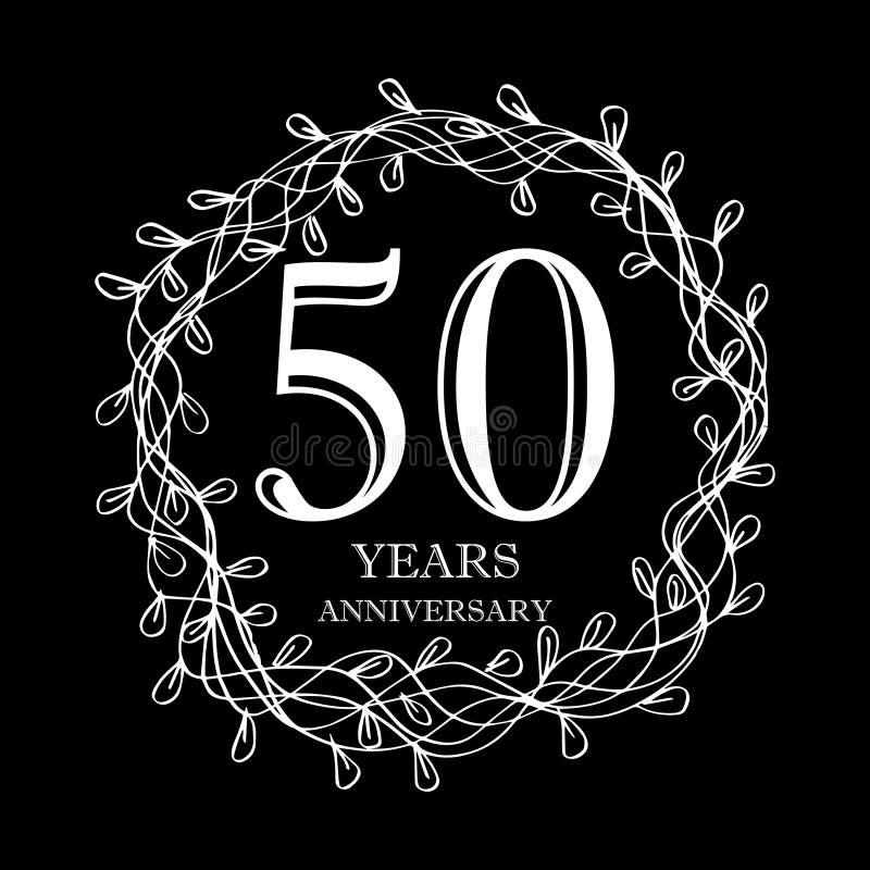 de vieringskaart van de 50 jaarverjaardag stock illustratie