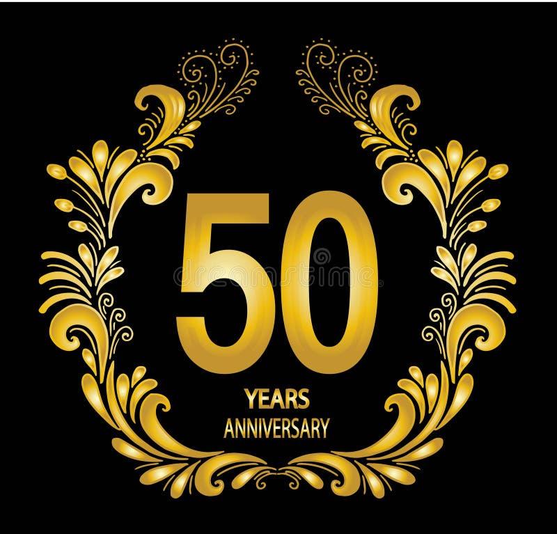 de vieringskaart van de 50 jaarverjaardag - Vector royalty-vrije illustratie