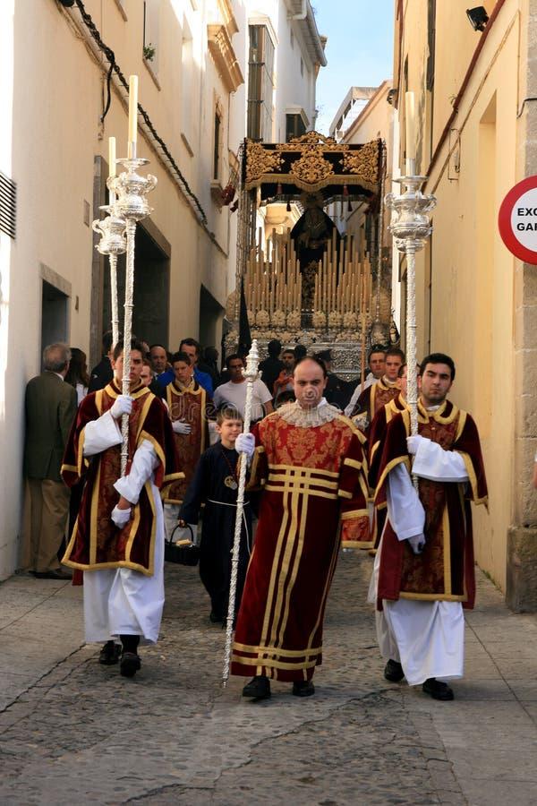 De vieringsparade van Pasen in Jerez, Spanje