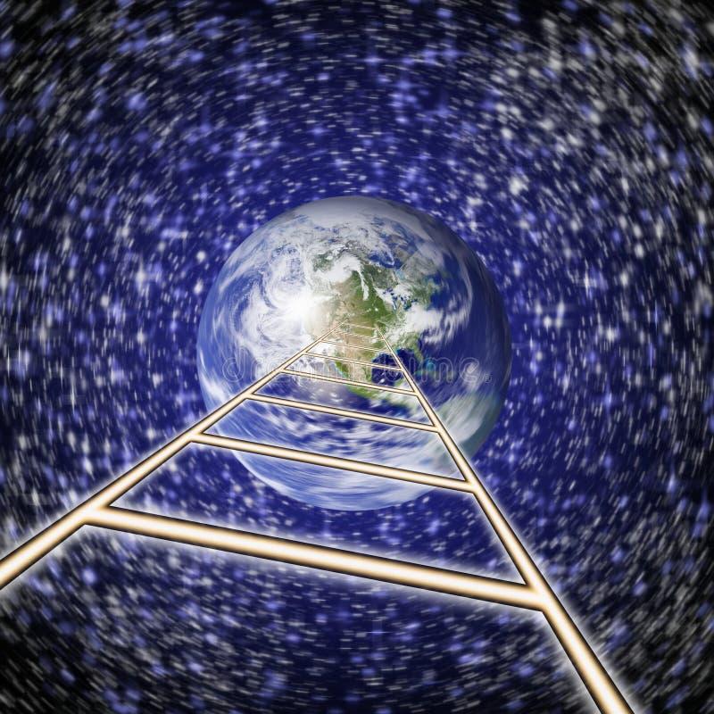 De vierkante bol van de aarde stock illustratie