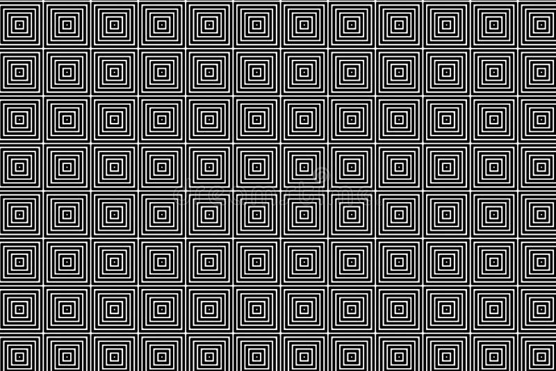De vierkante creatieve dynamische digitale zwarte abstracte achtergrond van het textuurpatroon Het element van het ontwerp stock illustratie