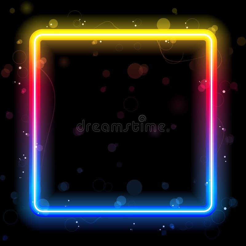 De Vierkante Grens van de regenboog met Fonkelingen vector illustratie