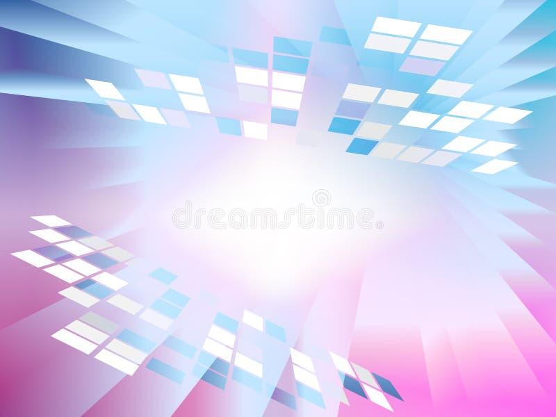 De vierkante Nettenachtergrond toont Eenvoudig Digitaal Art. vector illustratie