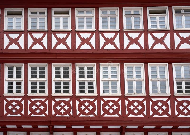 De vierkante Oude stad Duitsland van Frankfurt Romerberg royalty-vrije stock afbeelding