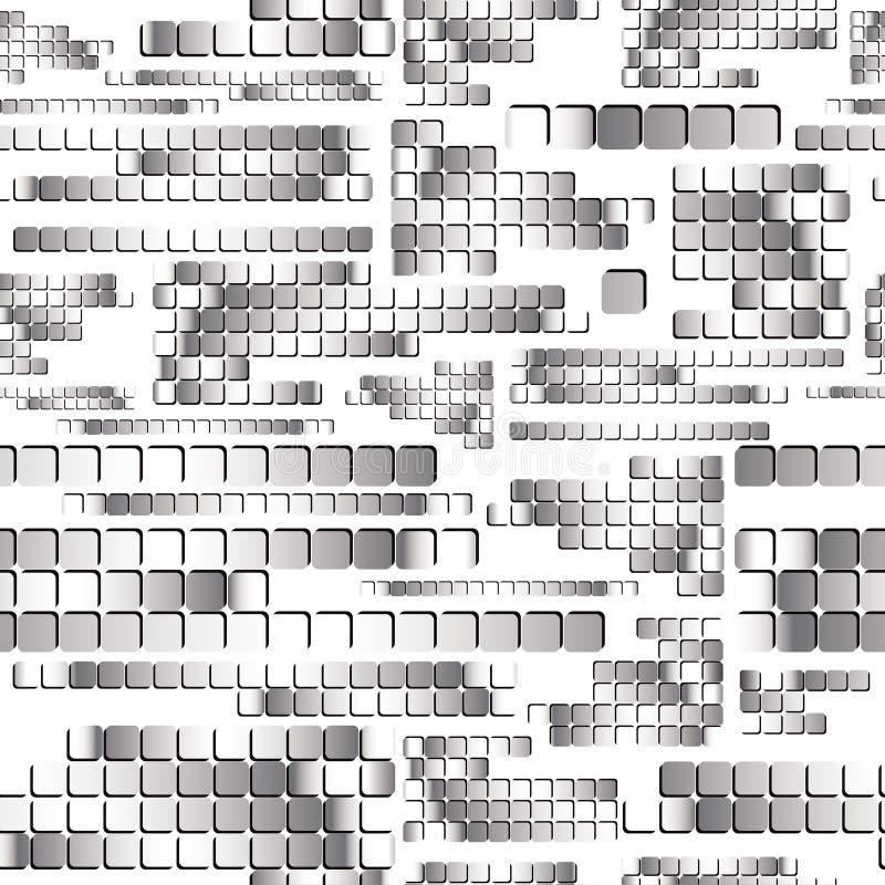 De vierkante regelmatige tegels van het chroom. stock illustratie