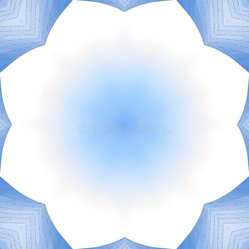 De vierkante Ruimte van het kaderexemplaar in het midden van hoekig metaal stock illustratie