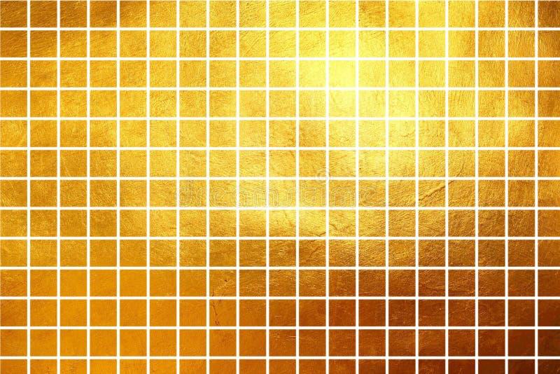 De vierkante samenvatting van de de luxegradiënt van de patroon gouden textuur glanzende stock foto