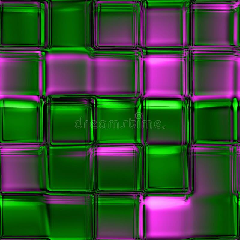 De vierkante textuur van het glas stock illustratie