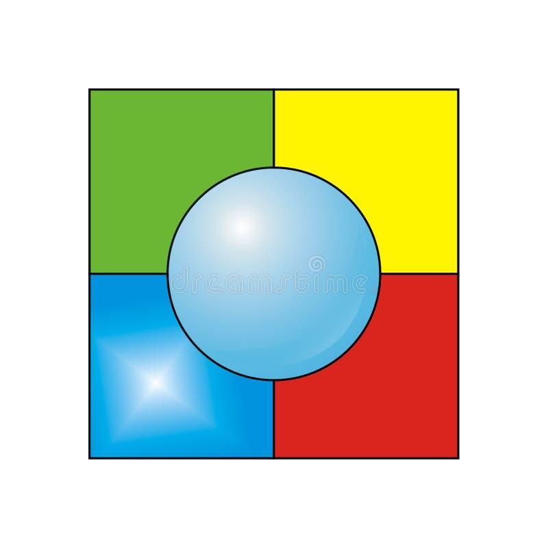 De vierkanten. royalty-vrije stock foto
