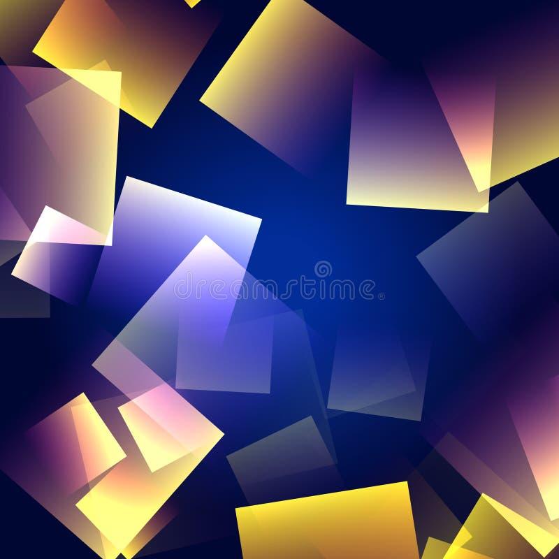De vierkanten van de kleur royalty-vrije illustratie
