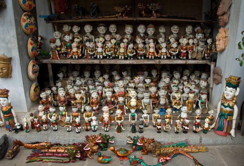 De Vietnamese Marionetten van het Water royalty-vrije stock fotografie