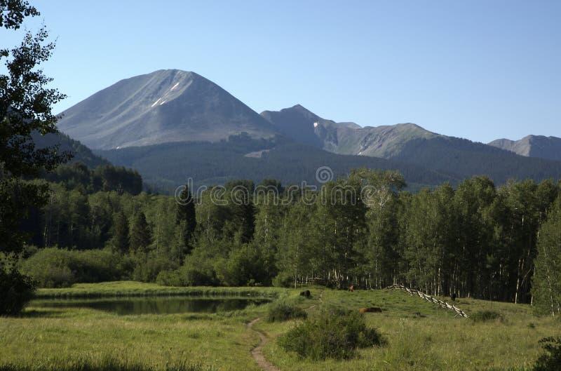 De Vijver van de Berg van Utah royalty-vrije stock afbeeldingen