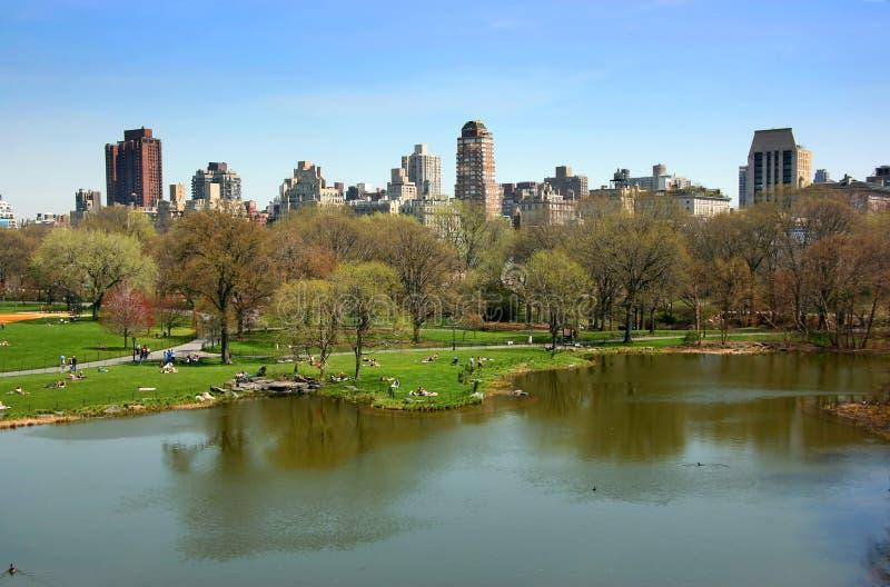De vijver van de schildpad, Nieuw Central Park, royalty-vrije stock fotografie
