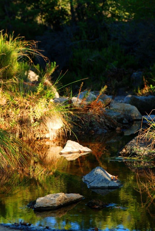 De vijver van het water in bergen Itamos royalty-vrije stock foto's
