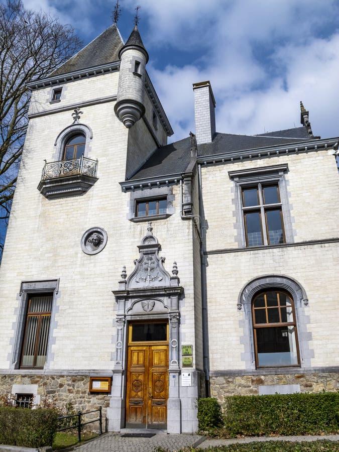 De villa Lang in Malmedy, België bouwde 1901, voorgevel in royalty-vrije stock fotografie