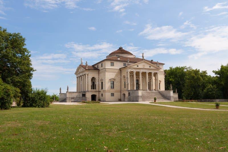 De Villa Rotonda door Andrea Palladio stock foto's