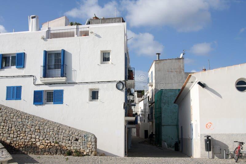 De villa's van Ibiza royalty-vrije stock fotografie