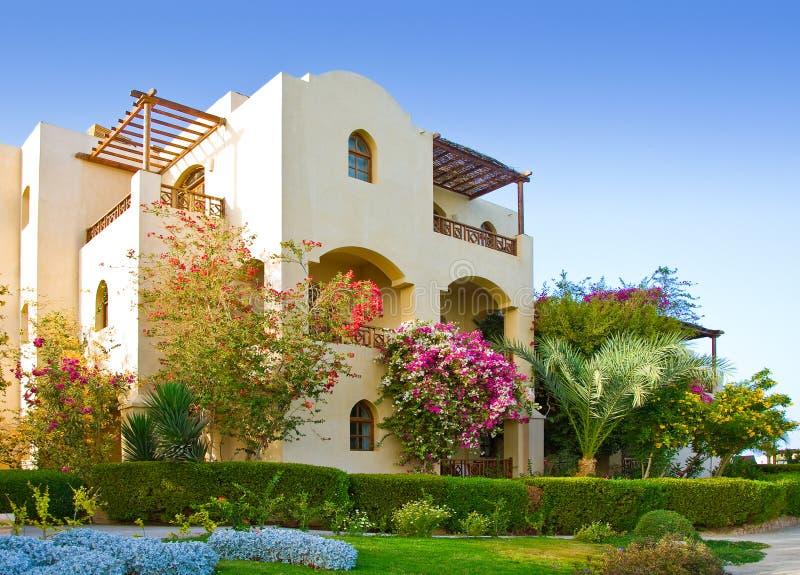 De villa van Beuatiful stock afbeelding