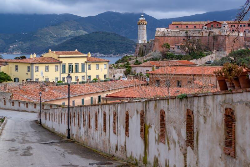 De villa van Napoleon op Elba stock foto