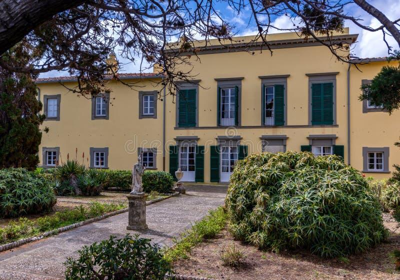 De villa van Napoleon op Elba stock foto's