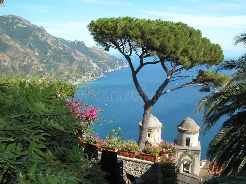 De Villa van Ravello stock afbeeldingen