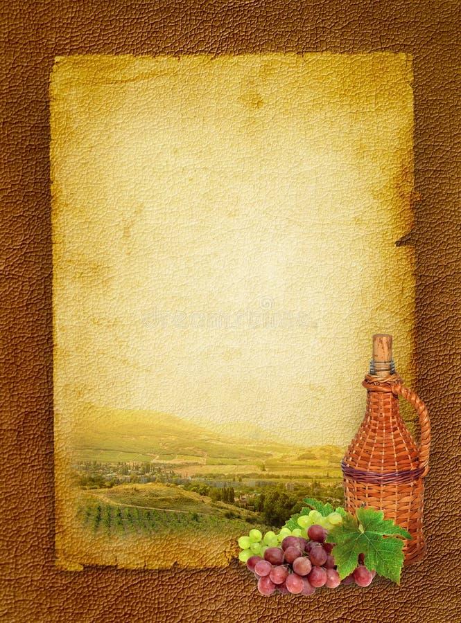 De vin toujours durée et vigne photo stock