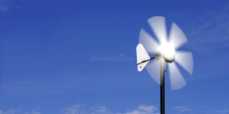 De vin van de alternatieve energiewind royalty-vrije stock afbeelding